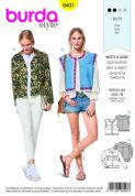 6407 Burda Pattern: Ladies Jacket and Vest